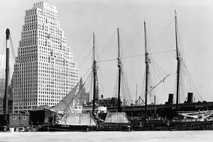 The Schooner Theoline at Pier 11 by P.L. Sperr