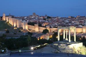 City of Avila at Dusk, Spain by p.lange
