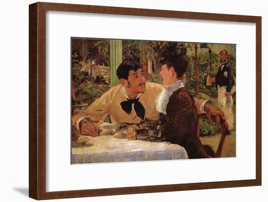 P� Lathuille-Edouard Manet-Framed Art Print