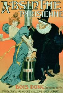 So Drink, You'll See Later, Poster Advertising Parisian Absinthe by P. & Maltese Gelis-didot