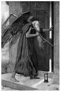 Death the Reaper, 1895 by P Naumann
