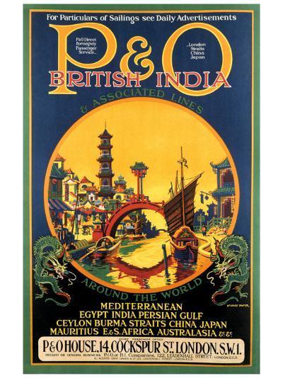P&O Ocean Cruises-Stanley Shuter-Giclee Print