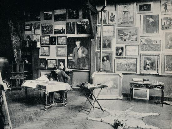 'P. Roll in his Studio', c1897-Unknown-Photographic Print