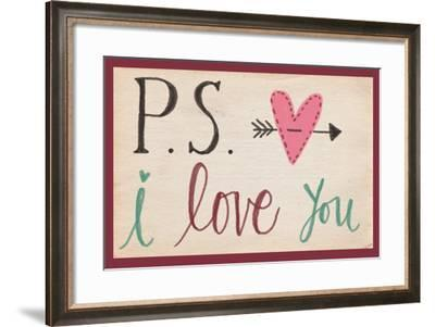 P.S. I Love You-Katie Doucette-Framed Art Print