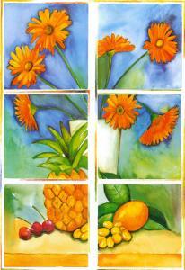 Still Life in Orange by P. Sonja
