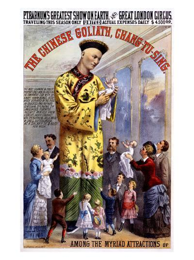P.T. Barnum and the Great London Circus: The Chinese Goliath- Chang-Tu-Sing-Giclee Print