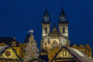 Christmas Fair in the Old Town Market in Prague, Czech Republic, Europe by P. Widmann