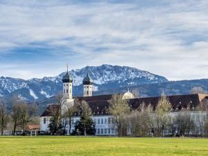 Cloister of Benediktbeuern, Bavaria, Germany by P. Widmann