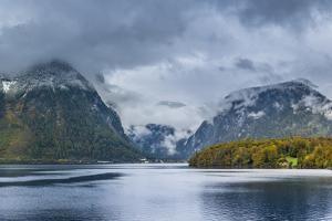 Morning Mood in the Hallstatter Lake, Salzkammergut, Austria, Europe by P. Widmann