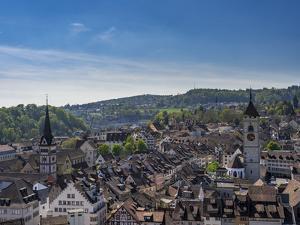 View at Old Town of Schaffhausen Canton Schaffhausen, Switzerland, Europe by P. Widmann