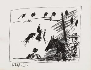 A los toros : jeu de la cape by Pablo Picasso