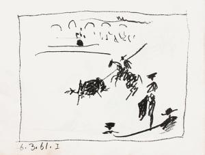 A los toros : la pique by Pablo Picasso