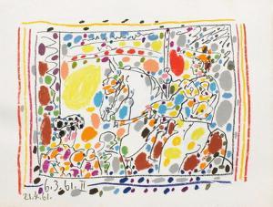 A los toros : le picador by Pablo Picasso