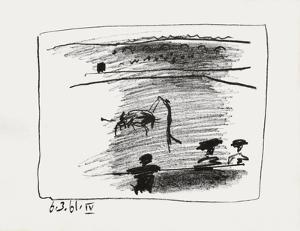 A los toros : les banderilles by Pablo Picasso
