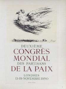 AF 1950 - Deuxième Congrès Mondial des Partisans d by Pablo Picasso