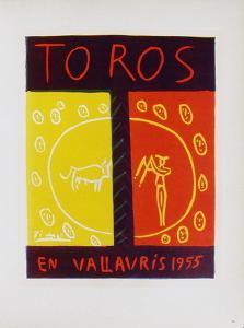AF 1955 - Toros en Vallauris by Pablo Picasso