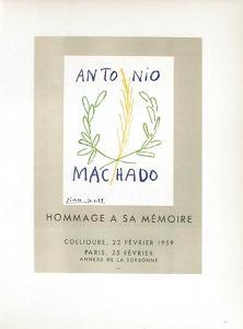 AF 1959 - Antonio Machado by Pablo Picasso