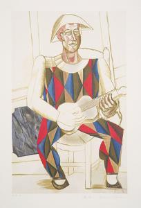 Arlequin a la Guitare, 2-A by Pablo Picasso