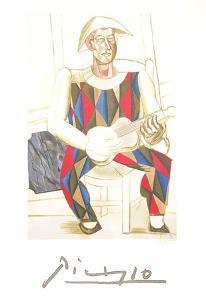 Arlequin a la Guitare by Pablo Picasso