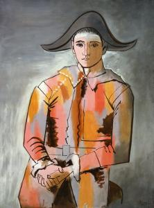 Arlequin, Les Mains Croisee, 1923 by Pablo Picasso