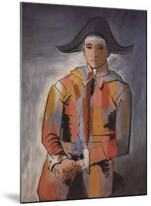 Arlequin les Mainscroisees (No Text) by Pablo Picasso