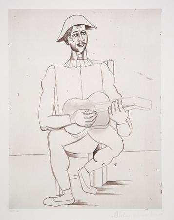 Arlequin Moustachu a la Guitare, J-175