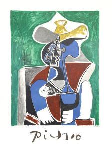 Buste au Chapeau Jaune et Gris by Pablo Picasso