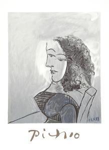 Buste de Femme aux Cheveux Bouchles by Pablo Picasso