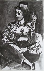 Carnet de Californie 04 by Pablo Picasso