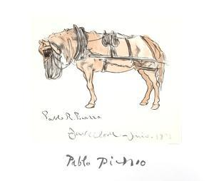 Cheval Attele by Pablo Picasso