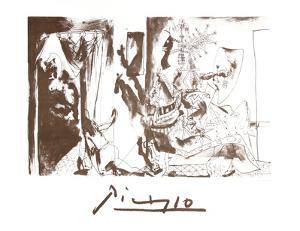 Chevalier en Armure, Page et Femme Nue by Pablo Picasso