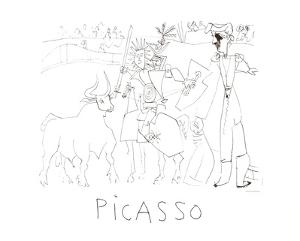 Chevalier Picador Dans L'Arene by Pablo Picasso