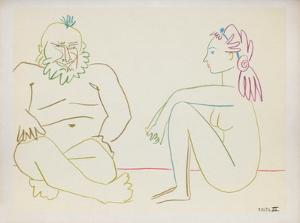 Comédie Humaine : 27.1.54. XIV by Pablo Picasso