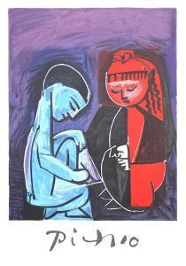 Deux Enfants Claude et Paloma by Pablo Picasso