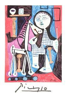 Enfant Avec Cheval a Toulettes by Pablo Picasso