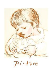 Enfant Deieunant by Pablo Picasso