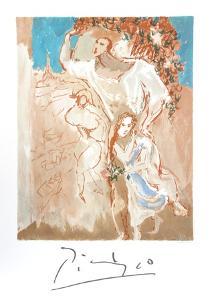 """Etude de Personnages (Etude pour """"Composition: les Paysans"""") by Pablo Picasso"""