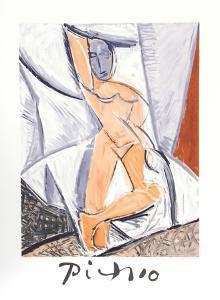 Etude pour le nu a la Draperie by Pablo Picasso