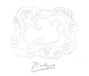 Etudes De Mains et Colombe by Pablo Picasso