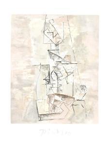 Femme a la Mandoline (Madmoiselle Leonie assie) by Pablo Picasso