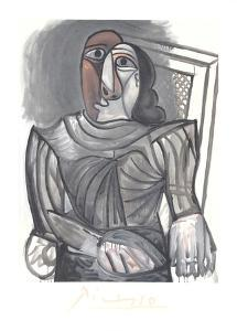 Femme Assise a la Robe Grise by Pablo Picasso