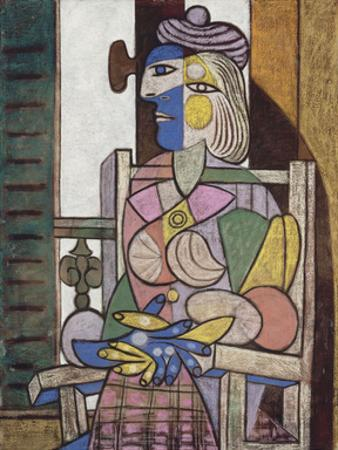 Femme assise devant la fenetre by Pablo Picasso