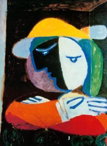 Femme au Balcon, c.1937 by Pablo Picasso