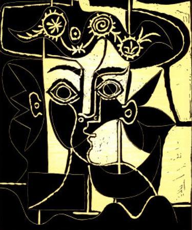 Femme au Chapeau Orne, c.1962