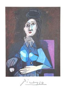 Femme Au Petit Chapeau Rond, Assise (Dora Maar) by Pablo Picasso