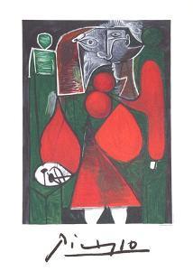 Femme en Rouge su Fauteuil by Pablo Picasso