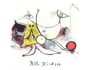 Femme sur la Plage Jouant au Balloon by Pablo Picasso