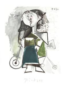 Fillette au Tricycle by Pablo Picasso