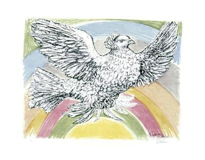 Flying Dove with Rainbow Background, 1952