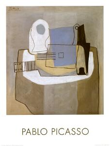 Guitar, Bottle and Fruit Bowl, c.1921 by Pablo Picasso
